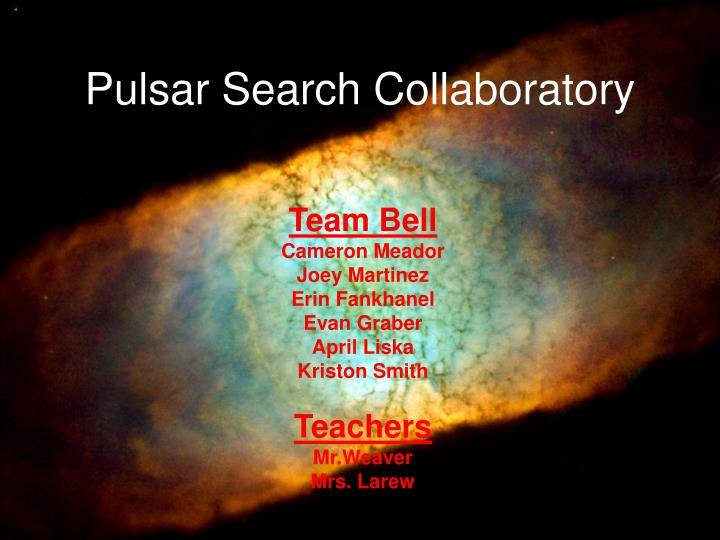 pulsar search collaboratory n.