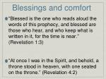 blessings and comfort