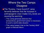 where the two camps disagree