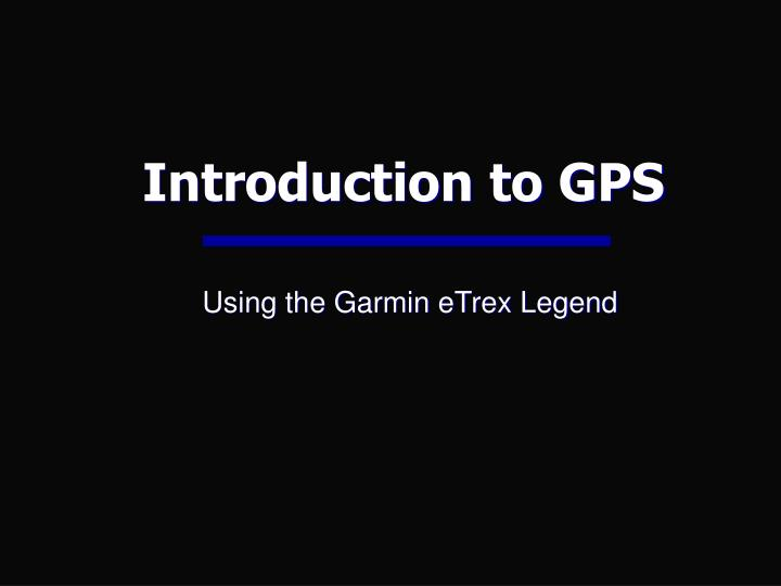 introduction to gps n.