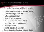 a master s degree will help you to