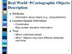 real world cartographic objects description