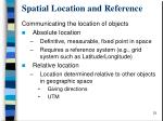 spatial location and reference