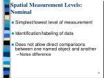 spatial measurement levels nominal