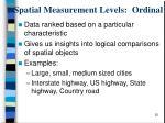 spatial measurement levels ordinal