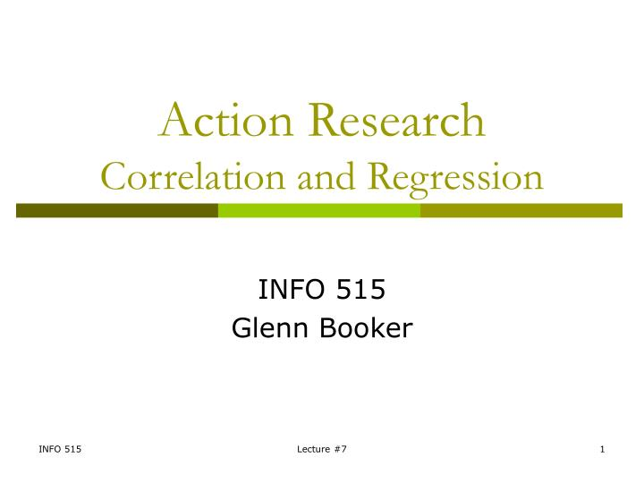 action research correlation and regression n.