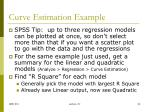 curve estimation example1