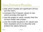 curve estimation procedure