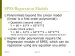 spss regression models3