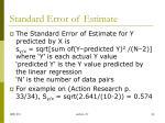 standard error of estimate
