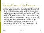 standard error of the estimate1