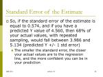 standard error of the estimate2