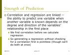 strength of prediction1