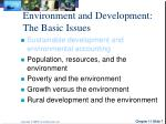 environment and development the basic issues3