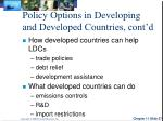 policy options in developing and developed countries cont d