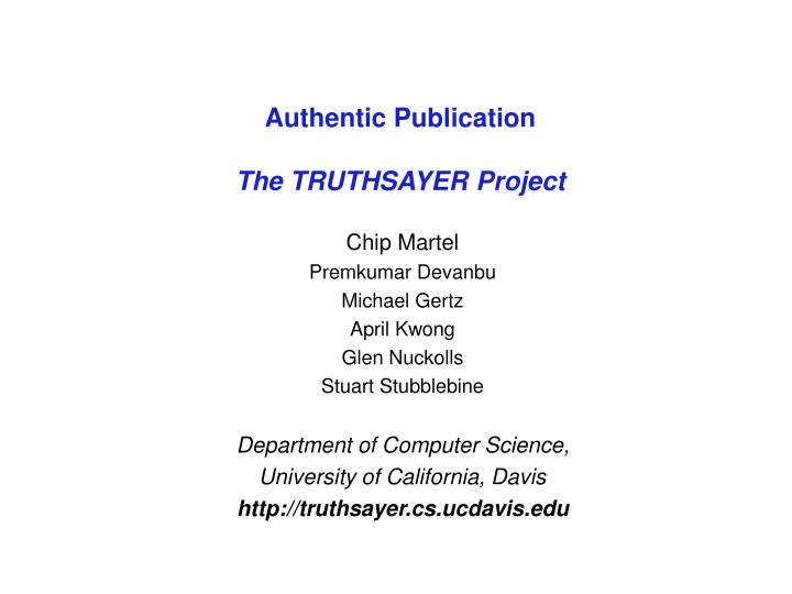 authentic publication the truthsayer project n.