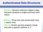 authenticated data structures1