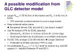 a possible modification from glc detector model
