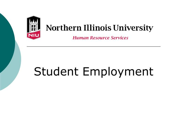 student employment n.