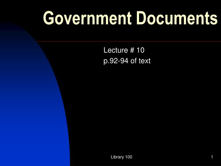 government documents n.
