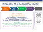 dimensions de la performance sociale1