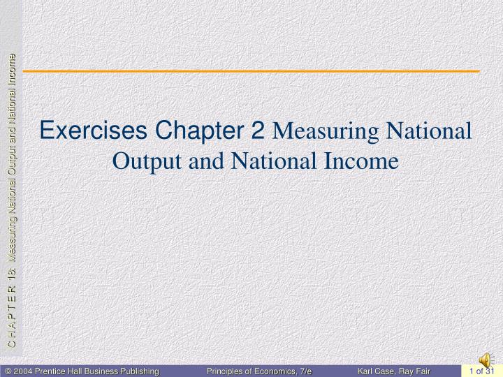 exercises chapter 2 measuring national output and national income n.