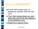 describe dominant1