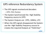 gps reference redundancy system