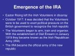 emergence of the ira