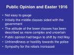 public opinion and easter 19161
