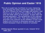 public opinion and easter 19163