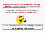 coalition to assure retirement equity care 43 national state local organizations