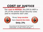 cost of justice