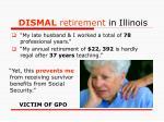 dismal retirement in illinois