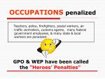 occupations penalized