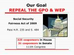 our goal repeal the gpo wep