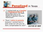 penalized in texas