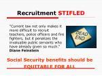 recruitment stifled