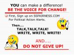 you can make a difference be the voice for change