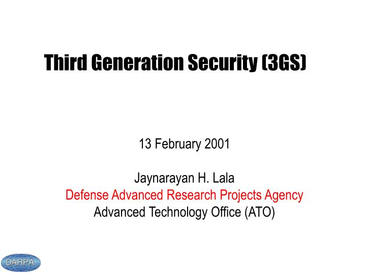 third generation security 3gs n.