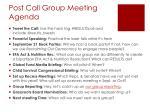 post call group meeting agenda