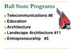 ball state programs