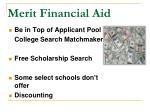 merit financial aid