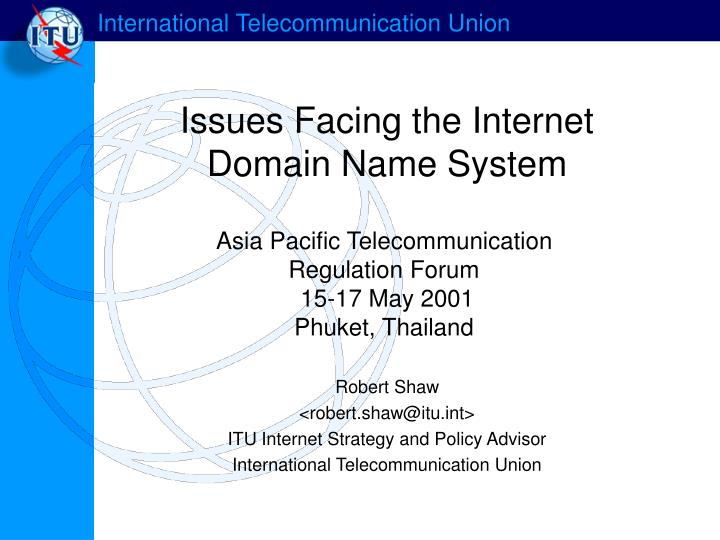 issues facing the internet domain name system n.