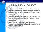 regulatory conundrum