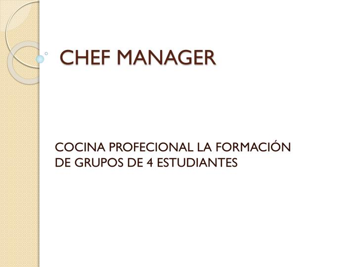 chef manager n.