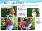 nature exploration there s no better way to learn about god s world than to explore the outdoors