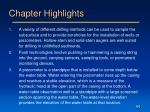 chapter highlights