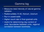 gamma log
