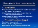 making water level measurements6